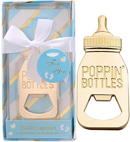 Flaschenöffner, Baby-Party, für Babyparty, Gastgeschenke, Babyflaschen, für Geburtstag, Hochzeit, Gastgeschenke, Partyzubehör, Dekoration, Geschenk, Blau, 24 Stück