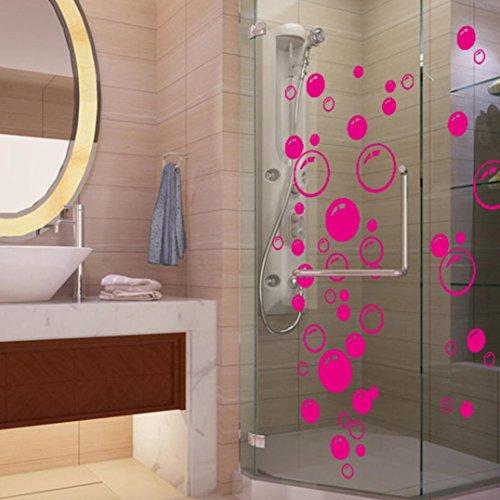 Saingace Wandaufkleber Wandtattoo Wandsticker,Bubbles Kreis entfernbare Wand Tapete Badezimmer-Fenster-Aufkleber-Abziehbild-Ausgangs DIY...