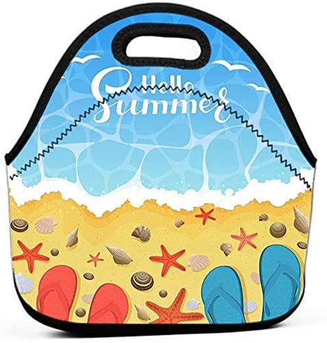 Bolsa de almuerzo con aislamiento grueso para adultos, mujeres, niñas, escuela, chanclas...