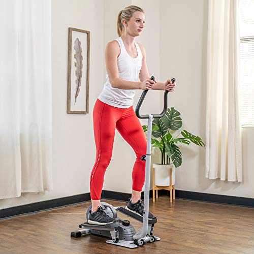Product Image 4: Sunny Health & Fitness Magnetic Standing Elliptical with Handlebars – SF-E3988, Grey