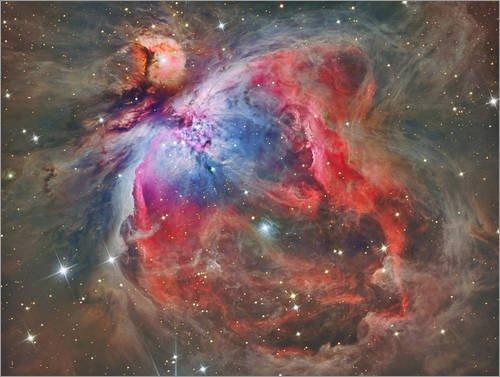 Posterlounge Alubild 80 x 60 cm: Orion Nebel von Reinhold Wittich/Stocktrek Images