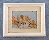 Melody Jane Dolls Houses House Miniature Accessory Babies On Branch Picture Painting White Frame