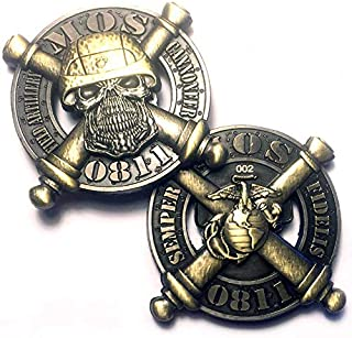 Vision Strike Coins USMC 0811 Field Artillery Cannoneer MOS Marine Corps Coin