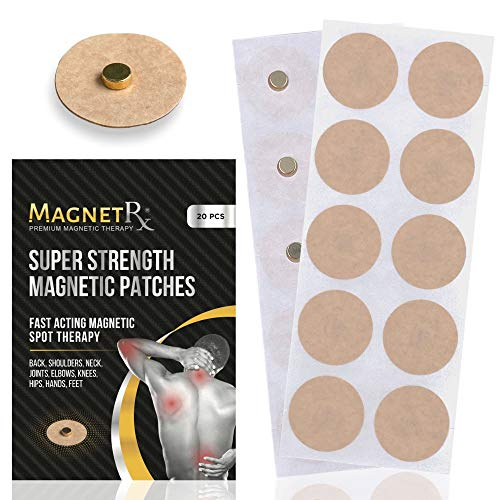 MagnetRX® Magnetic Acupressure Patches - Ultra Strength Healing Magnets for Body & Pain Relief - 3,500 Gauss Acupressure Magnetic Plaster (20 Pack)
