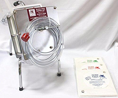 Buon Vino - 2282139 Complete Super Jet Wine Filter System 3 Pad