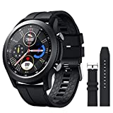 SANAG Smart Watch Compatible iPhone and Android Phones Fitness Tracker with Heart Rate Monitor, Call & SMS,IP68 Waterproof Pedometer Smartwatch with Sleep Monitor, Black Step Counter for Men