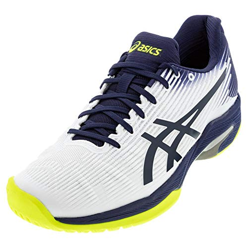 ASICS Men's Solution Speed FF Tennis Shoes, 7M, White/Peacoat