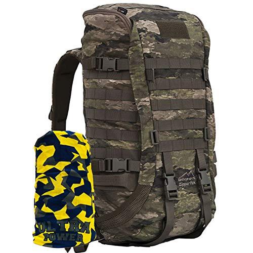 Wisport robuster Jagdrucksack Damen Herren | Kleiner Rucksack für Jäger Jagd | Camo Backpack für Pfadfinder Jugendliche | Organizer | Cordura | Zipperfox 25L + UP Schlauchtuch; A-TACS iX