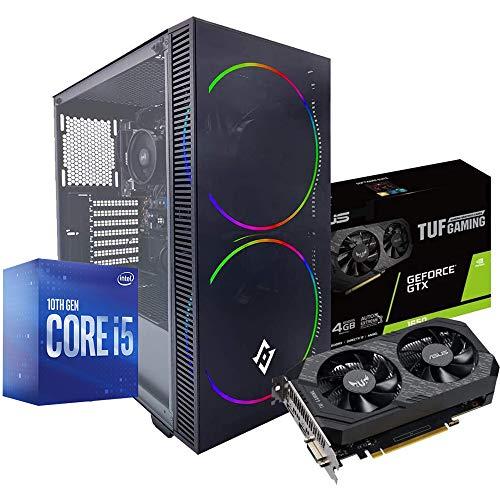 Pc desktop gaming completo Intel i5 10400F 4.30ghz in Turbo/Asus TUF Gtx 1650 4gb Ddr5/ Ram Ddr4 16gb / Ssd M.2 500gb / Windows 10 / Computer da gaming assemblato/Pc gaming i5