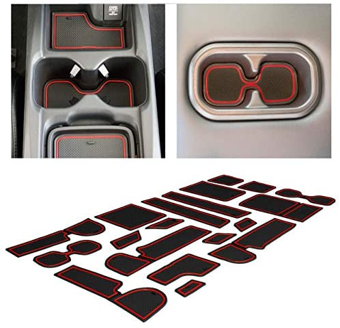 CupHolderHero fits Honda CRV Accessories 2017-2022 Premium Custom Interior Non-Slip Anti Dust Cup Holder Inserts, Center Console Liner Mats, Door Pocket Liners 22-pc Set (Solid Black)