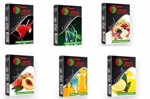 Tanya (Packs) Shisha Herbal 50G Flavor 100% Nicotine and Tobacco Free (6)