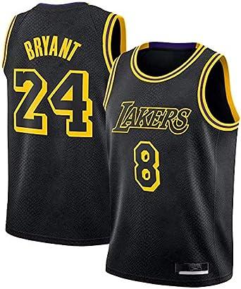 Kobe Bryant #8, 24 Los Angeles Lakers Jersey Negro Mamba Jersey Black Mamba Camisetas
