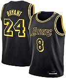 Kobe Bryant #8, 24 Los Angeles Lakers Jersey Negro Mamba Jersey Black Mamba Camisetas (Negro, XL)
