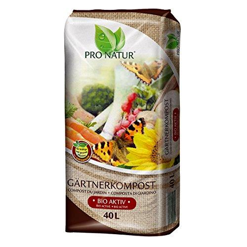Gärtnerkompost Pro Natur 40 Liter mit Gartenfaser NEU torffrei Qualität aus Bayern !