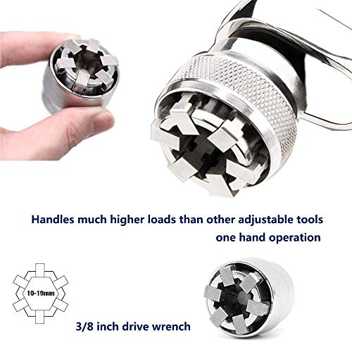Universal Socket Wrench Adjustable Socket Wrench Adaptive All-Fitting Multi Drill Attachment Adapter Socket Fits Any Standard 3/8