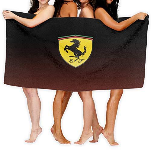 Ferrari - Toalla (tacto súper suave, 100% algodón, ideal para el hogar, playa y piscina, 80 x 130 cm), multicolor