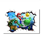 Mario Poster Super Mario Galaxy Wandaufkleber Leinwand
