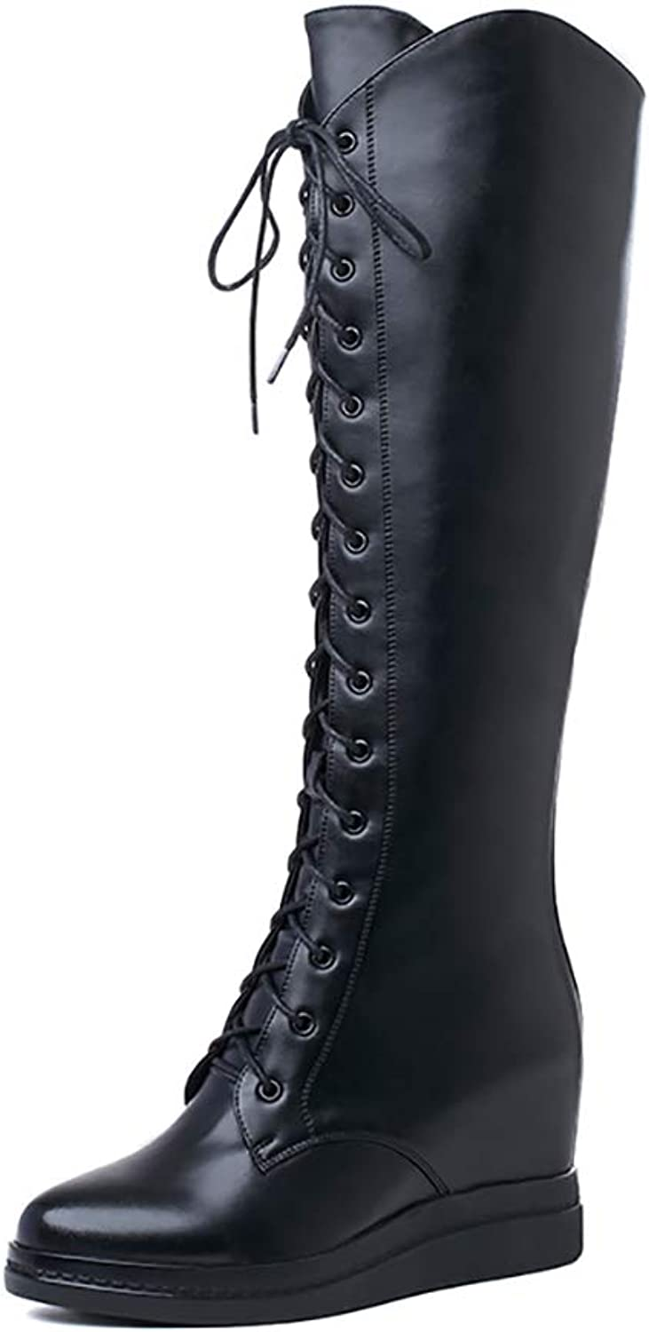 Zuezi WJ Women's Chunky Heel Lace Up Over-The-Knee High Riding Boots,Knee Military Co