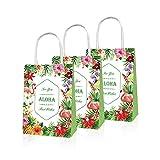 GGSELL 5 bolsas de papel para fiestas hawaianas, flamencos, fiestas de verano, fiestas de piñas