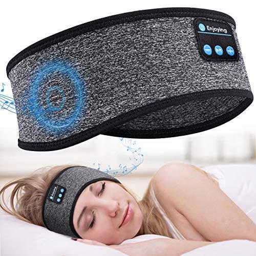 "Sleep Headphones Bluetooth 5.0 Sleeping Headphones Headband 10H Music - Soft Elastic Comfortable Headband Headphones, Gifts for Men Women Teenager, Father Mothers Day Birthday Gifts (Grey(20""-22""))"