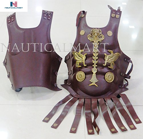 NauticalMart Armadura muscular de cuero coraza romana medieval pesada placa armadura