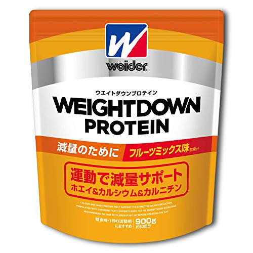 ウイダー ウエイトダウンプロテイン フルーツミックス味 900g (約60回分)  減量プロテイン カルニチン・ヒ...
