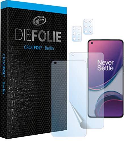 Crocfol Schutzfolie vom Testsieger [2 St.] kompatibel mit OnePlus 8 T- selbstheilende Premium 5D Langzeit-Panzerfolie inkl. Kamera Schutzfolien (Case-Friendly mit Veredelung)