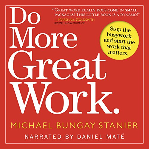 Do More Great Work audiobook cover art
