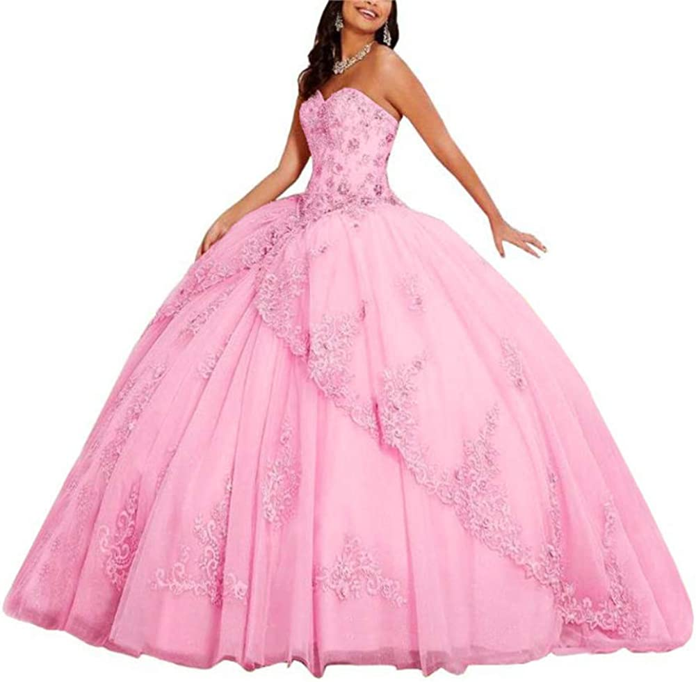 Meowmming Women's Sweetheart Lace Prom Appliques Dre Year-end Ranking TOP14 gift Quinceanera