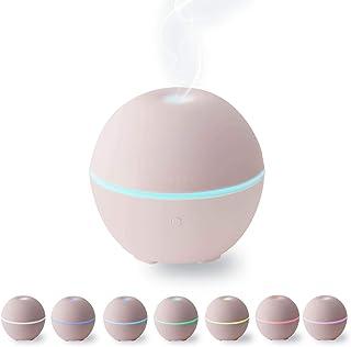 エレコム 加湿器 超音波式 抗菌 卓上 アロマディフューザー 7色LED USB給電 コンパクト ピンク エクリアミスト HCE-HU1901UPN HCE-HU1901UPN