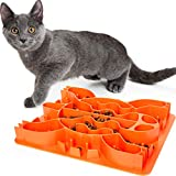 Slow Feeder Cat Bowl - Interactive Food & Treat Puzzle...