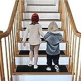 NEWOSTER Lot de 14 Tapis de marches d'escalier antidérapants - 76,2 x 20,3 cm...