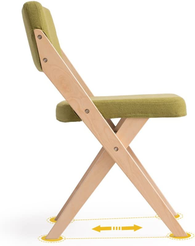 XXT-Chaise à Manger en Bois Massif Chaise à Tissu Moderne Simple Durable (Color : B) D