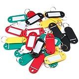 Grifri 30 Colores Plástico Llavero Colgante ID Etiquetas Etiquetas Llavero con Nombre Tarjetas