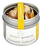 Schwarzer Knoblauch, fermentiert, vegan, natürlich, Knobi, Black Garlic, Tipp: Fein marmorierte Knoblauchbutter zum Grillen, 20g
