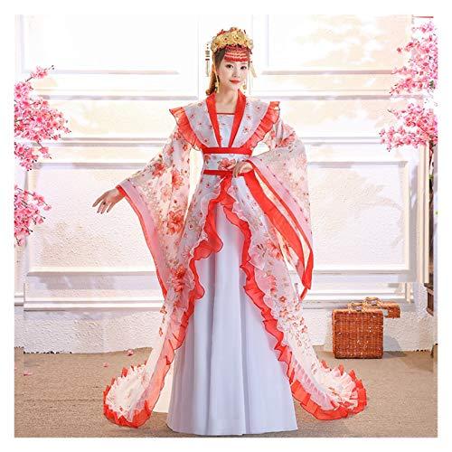 Disfraz de hada concubina imperial hanfu femenina de estilo chino Tang Dynasty princesa disfraz de estilo antiguo (color, tamao: talla nica)