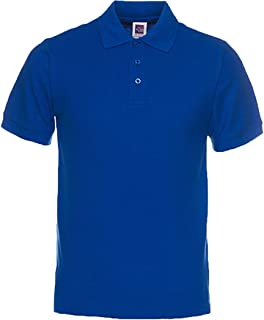 Men's Classic Fit Short Sleeve Casual Solid Cotton Pique Polo Shirt