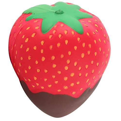 Anboor 3.9 Inches Squishies Strawberry Chocolate Cream Jumbo Slow Rising Kawaii Scented Soft Fruit Squishies Toys Color Random