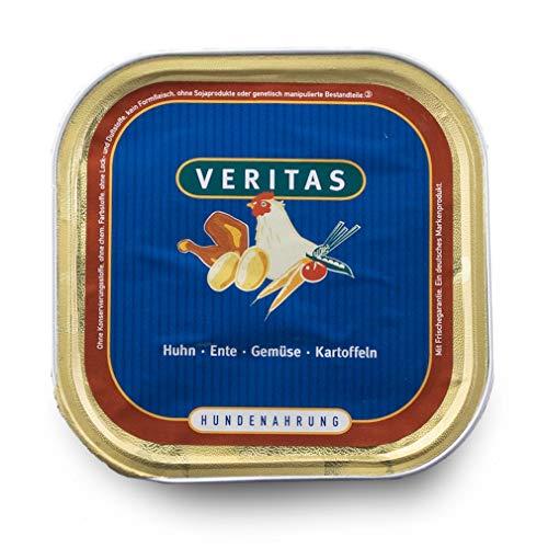 veritas Hundemenü Hundefutter nass – Gourmet Sorte Huhn Ente Gemüse Kartoffeln - Nassfutter für Erwachsene Hunde I Hundenassfutter (5X 300g)
