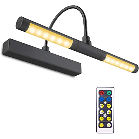LUXSWAY Picture Light Battery Powered Wireless Remote Control Painting Light,
