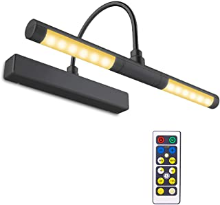 BIGLIGHT Wireless Battery Operated LED Picture Light with Remote, 13 Inches Rotatable..