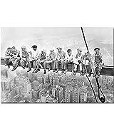 Zplbdw Empire State Building Bauarbeiter Leinwand Malerei