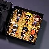 Toys Gift Box 6Pcs/Set Anime Naruto Akatsuki Uchiha Sasuke Killerb Sakura Madara Kakashi Zabuza Hidan Haku Orochimaru 7Cm Qver Model Action Figure
