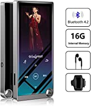 """$34 » Wodgreat 16 GB MP3 Player with Bluetooth 4.2 Hi-Fi Lossless Sound MP4/MP3 Music Player, 2.4"""" Screen Touch Button, Expand to 128GB, Pedometer, Built-in Speaker (Earphone, Armband)"""