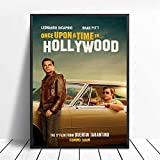 WDQFANGYI Érase Una Vez En Hollywood Carteles E Impresiones Quentin Tarantino Arte Pintura Lienzo Cuadros De Pared para Sala De Estar Decoración del Hogar 40X50Cm (FLL4457)