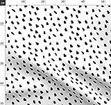 Schwarz, Und, Weiß, Punkte, Gefleckt, Malerisch Stoffe -
