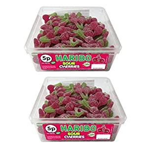 2 x full tubs haribo sweets party favours treats candy box wholesale (sour cherries) 2 x Full Tubs Haribo Sweets Party Favours Treats Candy Box Wholesale (Sour Cherries) 51 PwHW1z7L