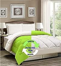 AVI Reversible Style Plain Mint Green & White 200 GSM Microfiber Comforter/Duvet/Quilt -Single Size - 60 X 90 inches