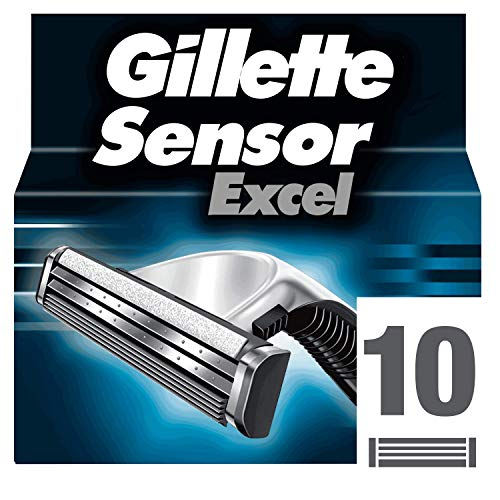 Gillette Sensor Excel Herren Rasierklingen, 10er Packung