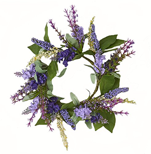 Worth Imports W/Leaf Lavender Candle Ring withLeaf, 3.5'
